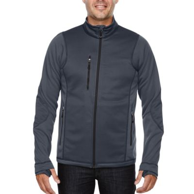Men's Pulse Textured Bonded Fleece Jacket with Print Thumbnail
