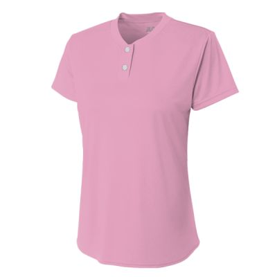 Ladies' Tek 2-Button Henley Shirt Thumbnail