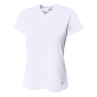 Ladies' Birds-Eye Mesh V-Neck T-Shirt Thumbnail