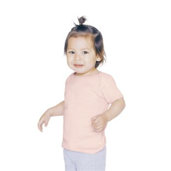 Infant Baby Rib Short Sleeve Lap T-Shirt Thumbnail