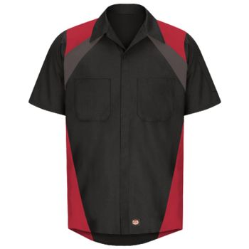 Tri-Color Short Sleeve Shop Shirt Thumbnail