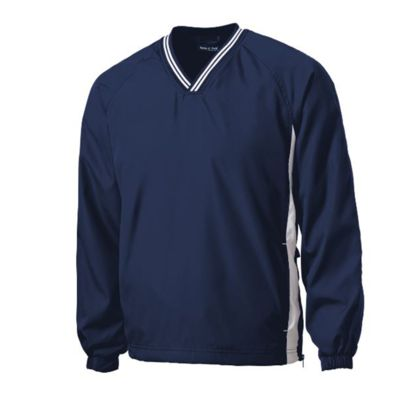 Tipped V Neck Raglan Wind Shirt Thumbnail