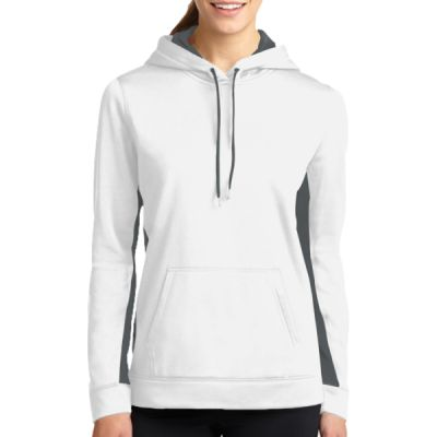 Ladies Sport Wick ® Fleece Colorblock Hooded Pullover Thumbnail